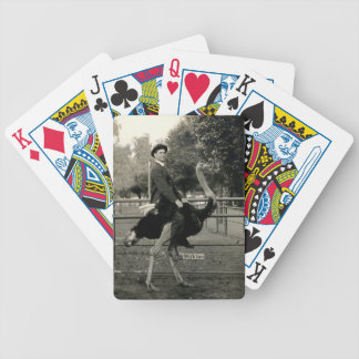1910 Ostrich Riding Bicycle Playing Cards