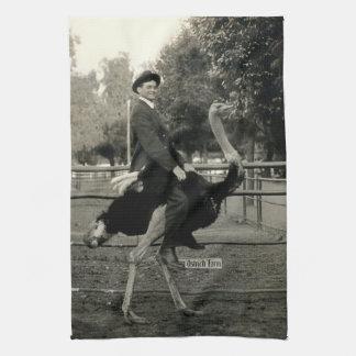 1910 Ostrich Riding Hand Towel