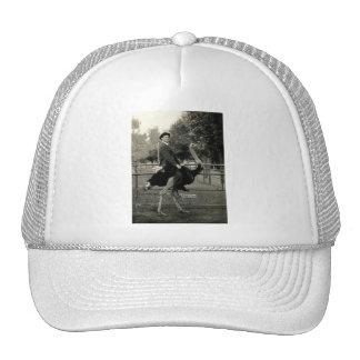 1910 Ostrich Riding Trucker Hat