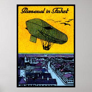 1910 Parseval Airship Poster