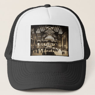 1910 Penn Station NYC Magic Lantern Slide Sepia Trucker Hat