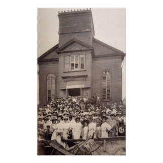 1910 Photo of Abyssinian Baptist Church, New York Poster