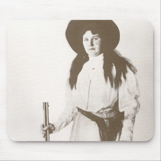 1910 Photo Portrait of a Cowgirl Holding a Rifle Mouse Pad