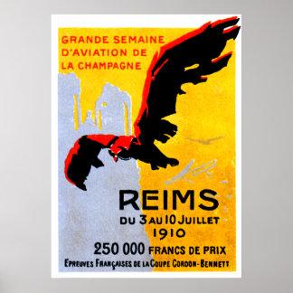 1910 Reims Air Show Poster