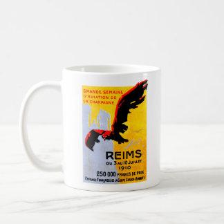 1910 Reims Air Show Poster Coffee Mug