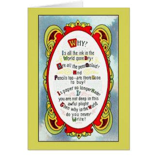 1910 Romantic art nouveau, miss you Card