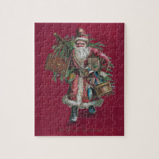1910 Santa with Tree and Toys Puzzle