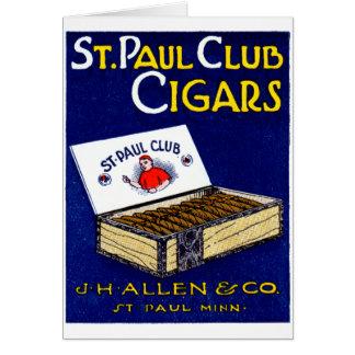 1910 St. Paul Club Cigars Card