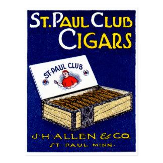 1910 St. Paul Club Cigars Postcard