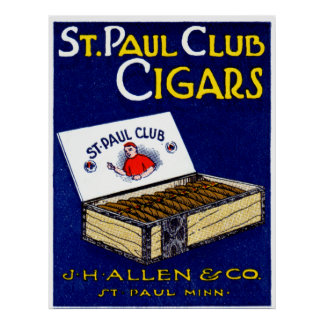 1910 St. Paul Club Cigars Poster