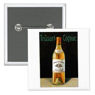 1910 Trusart Cognac Poster Button