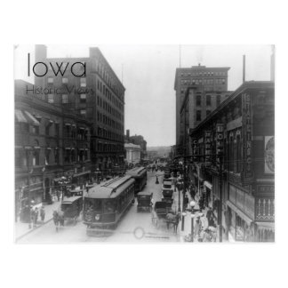 1910 View of Downtown Des Moines Postcard