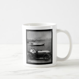 1910 Vintage Race Car & Speed Boat-coffee mug