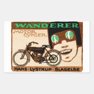 1910 Wanderer Motorcycle Poster Rectangular Sticker