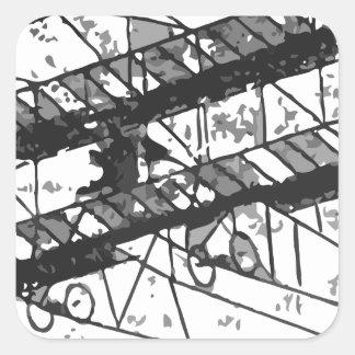 1910inaviation-farman3biplane-losangeles square sticker