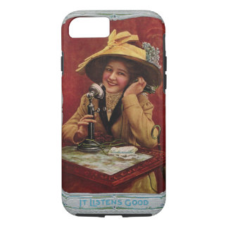 1910s Beauty on an Antique Telephone Phone Case