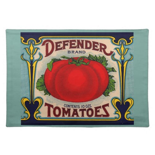 1910s Defender brand tomatoes label Cloth Placemat