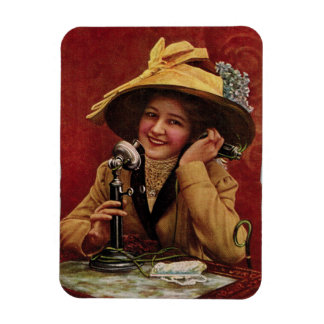 1910s Sweetheart on a Candlestick Phone Magnet