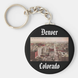 1910's View of Denver, CO from The D & F Tower Keychain