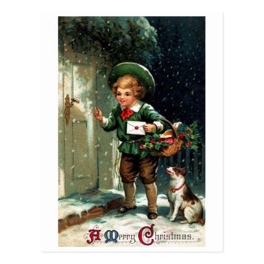 1911 Christmas Greetings Postcard