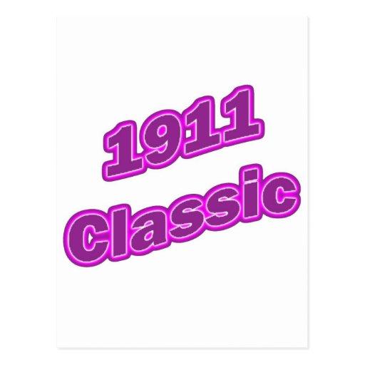 1911 Classic Purple Postcard