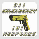 1911 Emergency Square Stickers