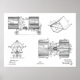 1911 Flying Machine Airplane Patent Drawing Print