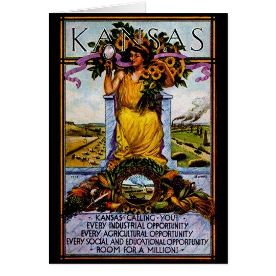 1911 Kansas Poster Card