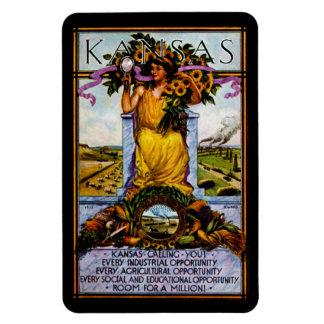 1911 Kansas Poster Rectangular Photo Magnet