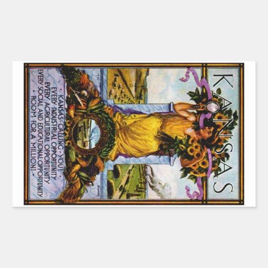 1911 Kansas Poster Rectangular Sticker