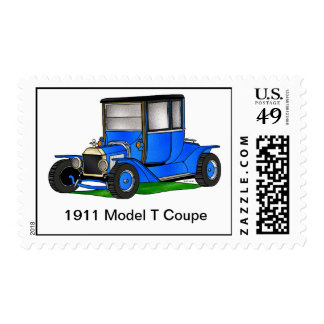 1911 Model T Coupe - Blue Postage Stamp