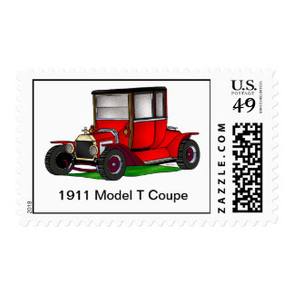 1911 Model T Coupe - Red Postage