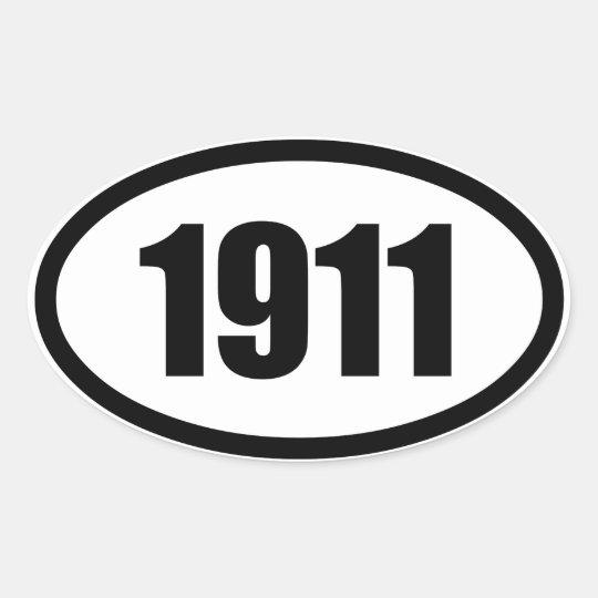 1911 PEGATINA OVALADA