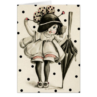"1911 ""PICTURE POSTCARD"" BOOP GIRL GREETING CARD"