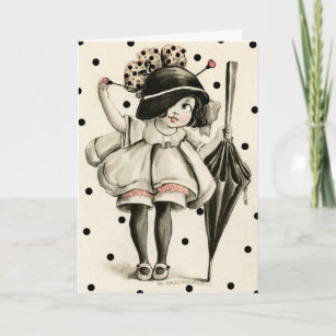 1911 picture postcard boop girl greeting holiday card
