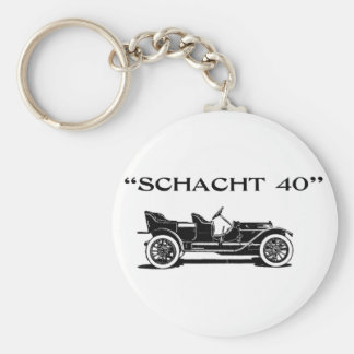 1911 Schacht Auto Advertisement Keychain