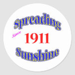 1911 soles de extensión etiqueta redonda