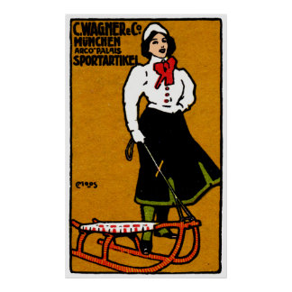 1911 Sporting Goods Poster