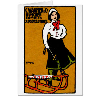 1911 Sporting Goods Poster Card