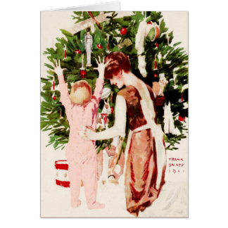 "1911 ""TOYLAND TRAIN"" CHRISTMAS MORNING SUPRISE CARD"