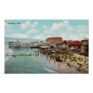 1911 Vintage Long Beach California Amusement Park Poster