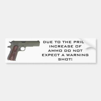 1911 Warning Shot Car Bumper Sticker