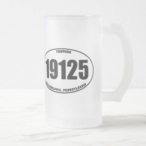 19125 - PA de Fishtown Philadelphia Taza Cristal Mate