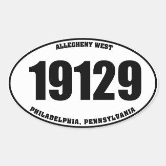 19129 Allegheny West Philadelphia PA oval stickers