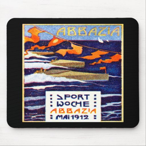 1912 Abbazia Speed Boat Races Mouse Pad