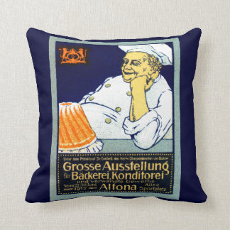 1912 Bakery + Confectionery Exhibition Throw Pillow