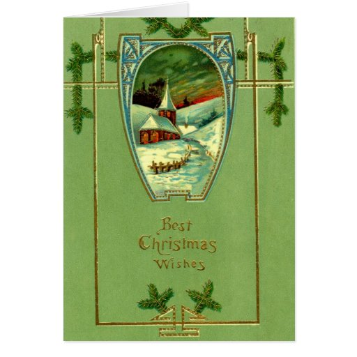 1912 Best Christmas Wishes Vintage Card