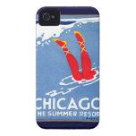 1912 Chicago, el centro turístico de verano iPhone 4 Fundas