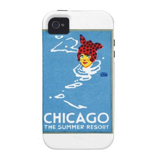 1912 Chicago, el centro turístico de verano Funda iPhone 4