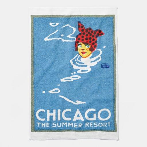 1912 Chicago, el centro turístico de verano Toallas